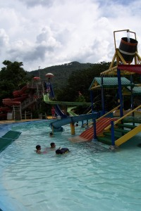 A view of the water park near the ruins at Copan.