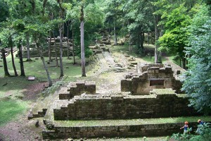 A view of the Mayan ruins at Copan.