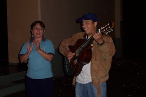 Miriam and Jesus serenade Bart at 5 a.m.