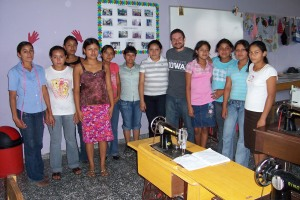 Students from the project sewing class gave Bart a leather wallet.