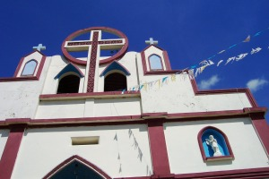 We attended Mass with hundreds of sponsored children and their parents at this beautiful church in Tacuba.