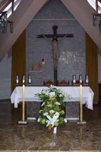 The altar where Archbishop Oscar Romero was killed while celebrating Mass.